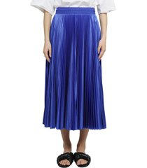 balenciaga blue pleated skirt