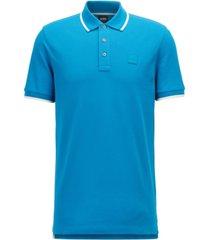 boss men's logo-patch polo shirt