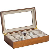 bey-berk watch & pocket watch storage box - brown