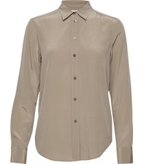 classic silk shirt overhemd met lange mouwen beige filippa k