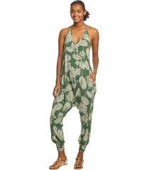 buddha pants women's harem jumpsuit - dandelion xx-small cotton