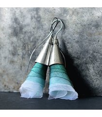 baśniowe miętowe kolczyki dzwonki