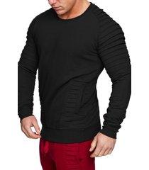 drape panel design casual sweatshirt
