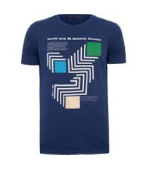 t-shirt masculina estampada - azul