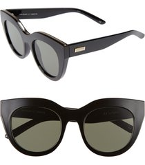 le specs air heart 51mm sunglasses in black/gold at nordstrom