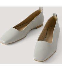 na-kd shoes squared toe ballerinas - grey