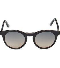 49mm braided oval sunglasses