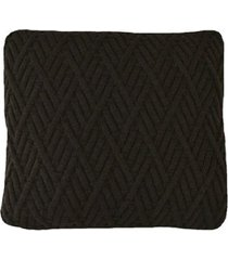capa almofada tricot 45x45cm c/zíper sofa trico cod 1025 café