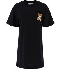 moschino t-shirt dress with teddy bear patch