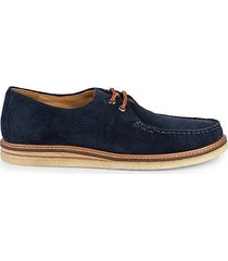 gold cup captain's crepe suede derby shoes