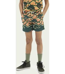 scotch & soda printed swim shorts