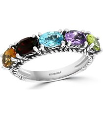 effy multi-gemstone statement ring (3 ct. t.w.) in sterling silver