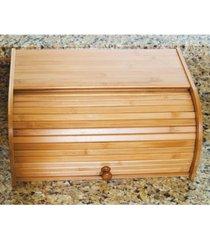 lipper international acacia roll-top bread box