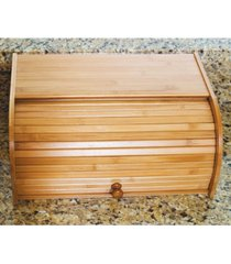 lipper international acacia roll-top bread box