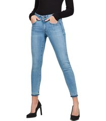 lynn mid skinny rip ankle jeans