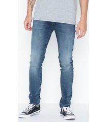 selected homme slhslim-leon 6163 mid blue st jns w jeans blå