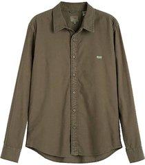 overhemd donker groen