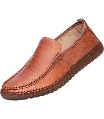 suola in gomma indossabile da uomo cucita a mano. slip on casual shoes