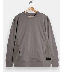 mens grey topman ltd gray panel sweatshirt