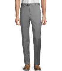 zanella men's david classic-fit stretch wool pants - grey - size 36