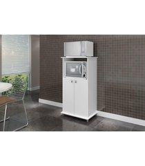 armário p/forno e microondas 2 portas móvel bento branco