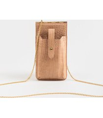 cami phone crossbody wallet - nude