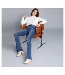 lez a lez - calça bootcut hot pant malibu jeans