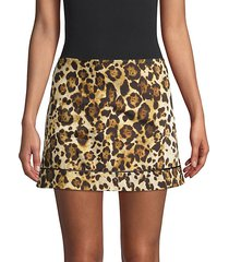 rami animal-print mini skirt