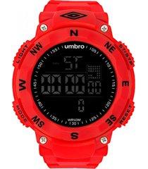reloj digital rojo umbro
