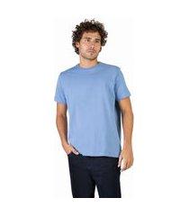 t-shirt básica comfort azul claro azul claro/m
