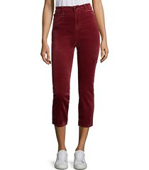 ruby high-rise velvet pants