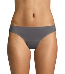 ava & aiden women's bonded edge stretch thongs - grey - size xl
