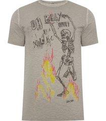 t-shirt masculina rx wild fire - bege