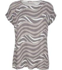 blouse alba moda taupe/grijs/offwhite