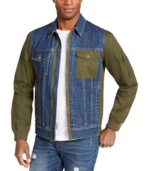sun + stone men's tromber jacket, created for macy's