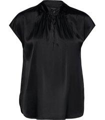 3176 - prosi top s blouses short-sleeved zwart sand