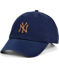 '47 brand new york yankees double faux-leather clean up cap