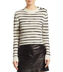sam variegated stripe wool sweater