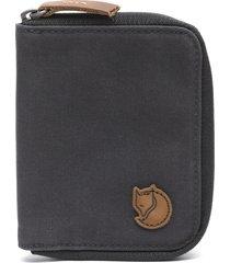 billetera zip wallet gris fjall raven