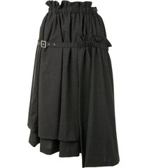 comme des garçons noir kei ninomiya belted full-shape midi skirt -