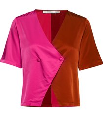 sylviagz shirt ao19 blouses short-sleeved roze gestuz