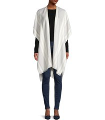 marcus adler women's woven mixed-pattern shawl - grey