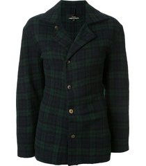 comme des garçons pre-owned twisted effect checked jacket - green