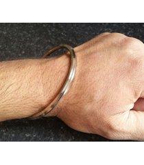 stupéfiant acier inoxydable thin 5 lignes sikh khalsa kara kada bracelet zz7