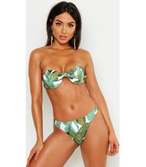mix & match beverly hills thong bikini brief, green