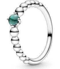 anel esferas verde escuro - mês de maio