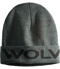 wolverine logo watch cap granite heather, size one size