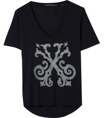 t shirt bright caviar black (preto, gg)