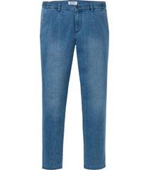 jeans elasticizzati sostenibili con poliestere riciclato regular fit tapered (blu) - john baner jeanswear