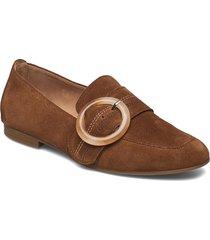 slip-ons loafers låga skor beige gabor